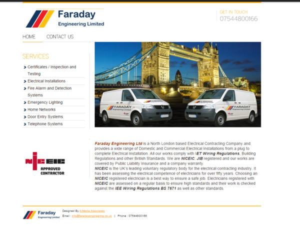 Faraday Engineering Web Design