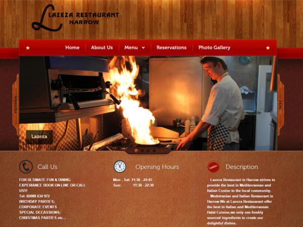 Lazeza Restaurant Web Design