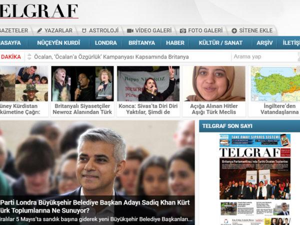 Telgraf News Web Design