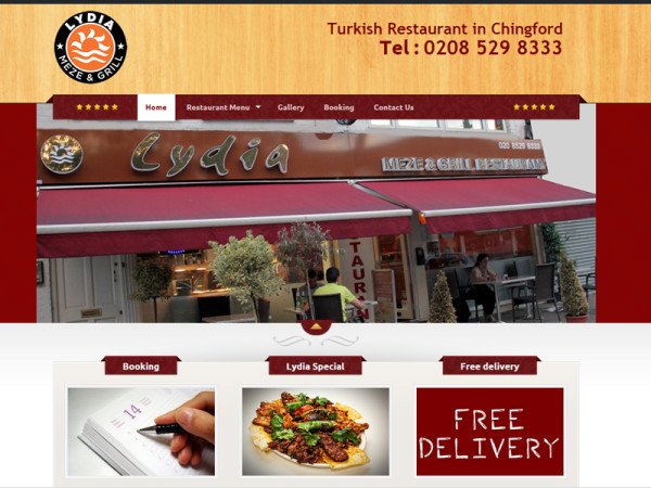 Lydia Restaurant Website